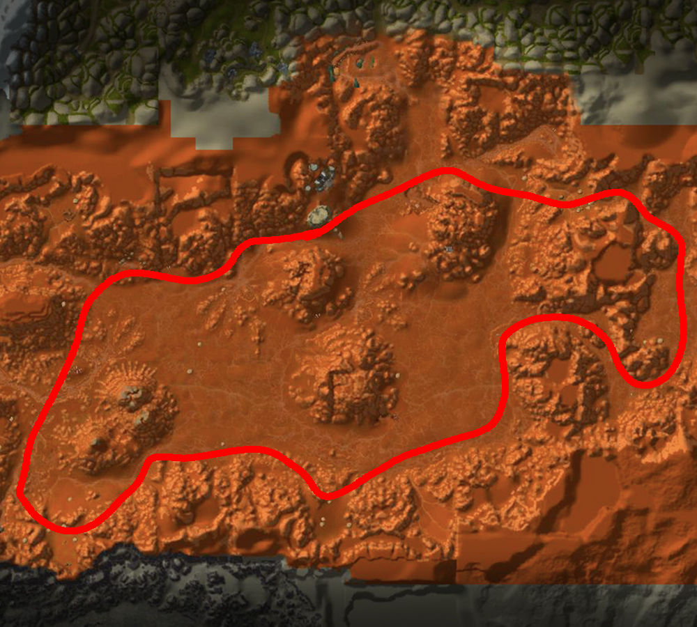 badlands mithril farm route