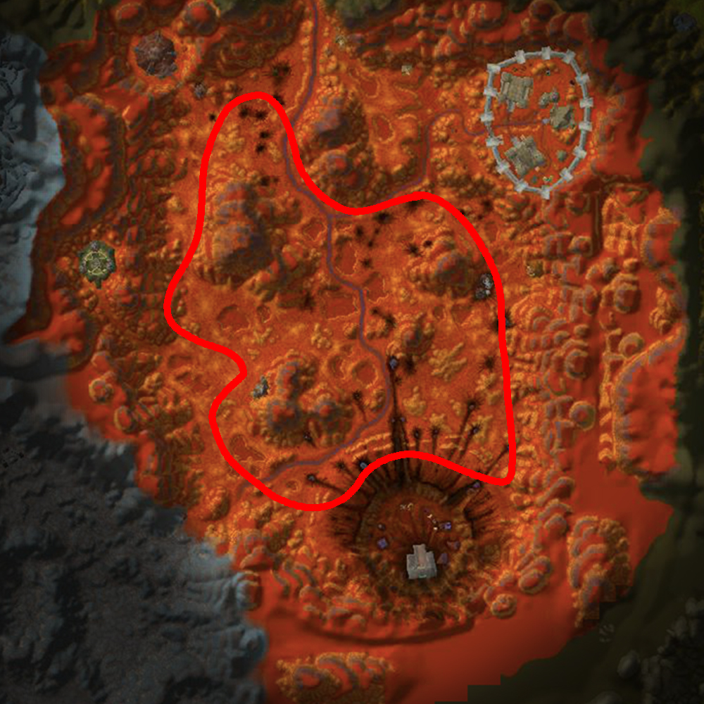 Blasted Lands gromsblood, fire blossom and sungrass farm route