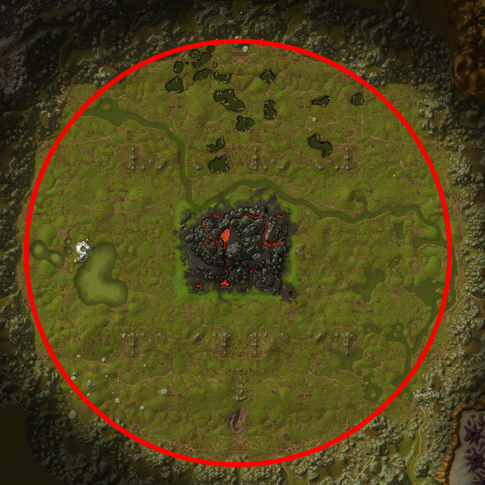 Un'Goro Crater thorium farm route