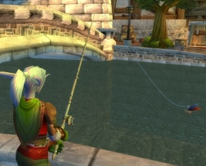 nightelf fishing in stormwind