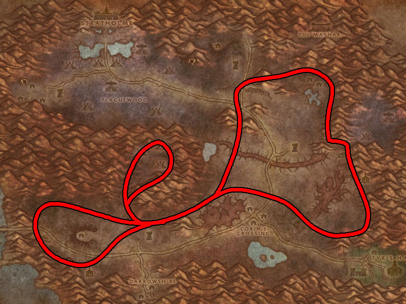 eastern plaguelands mountain silversage route